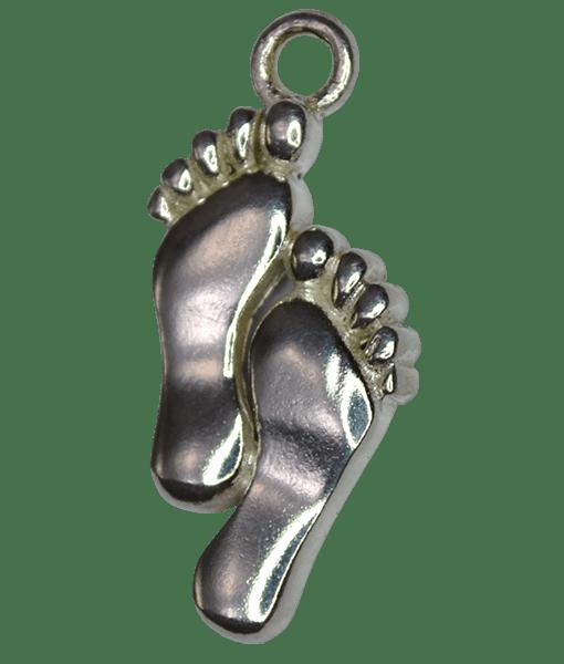 92.5 Sterling Silver Feet Charm