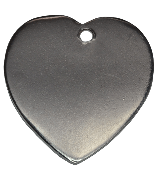 92.5 Sterling Silver Heart Engraving Charm