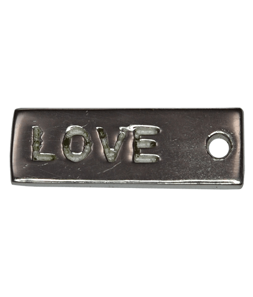 92.5 Sterling Silver Love Charm