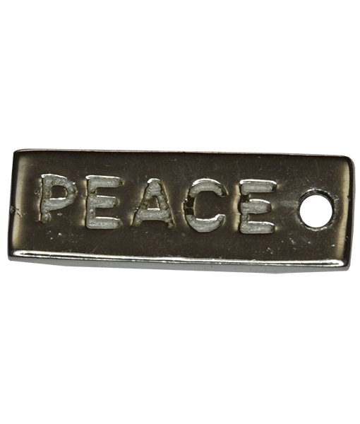 92.5 Sterling Silver Peace Charm 14x5mm
