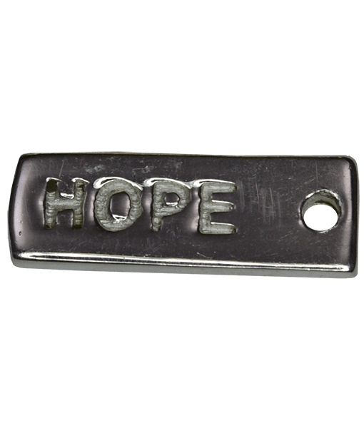 92.5 Sterling Silver Hope Charm