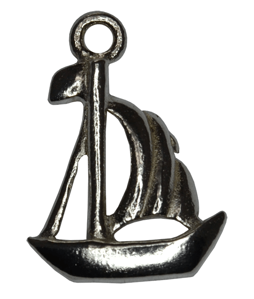 92.5 Sterling Silver Sail Boat Charm