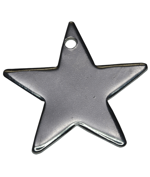 92.5 Sterling Silver Star Engraving Charm