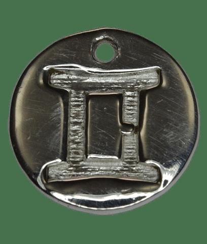 92.5 Sterling Silver GEMINI Charm