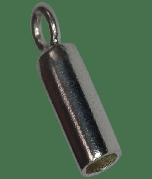92.5 Sterling Silver 2mm Inner Diameter Long Cord Ends
