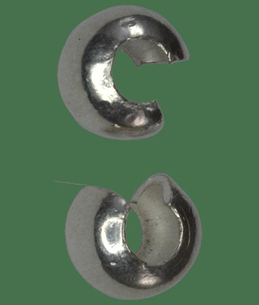92.5 Sterling Silver 4mm Crimp Cover