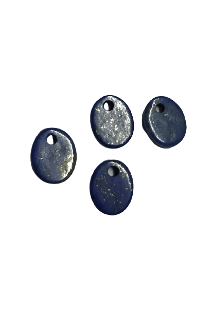 8*10mm Flat Oval Lapis with Hole on Top