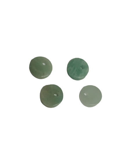 8mm Flat Amazonite with Hole on Top