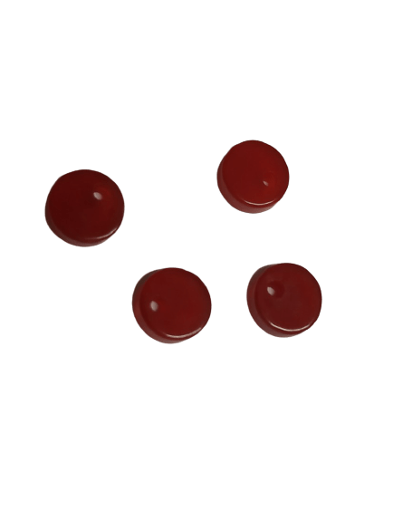 8mm Flat Red Onyx with Hole on Top