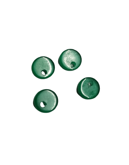 8mm Flat Green Onyx with Hole on Top