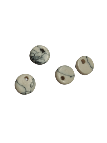 8mm Flat Howlite with Hole on Top