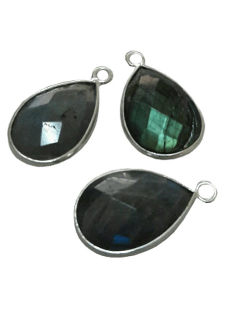 Sterling Silver Labrodorite Drop CHARM