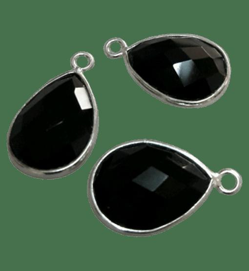Sterling Silver Black Onyx Drop Charm