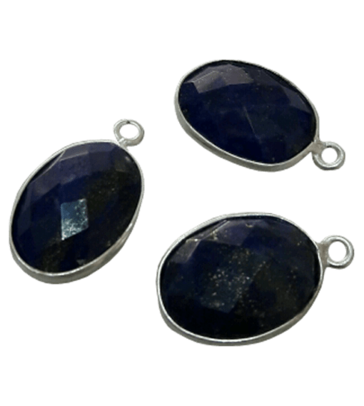 Sterling Silver Oval Lapis CHARM