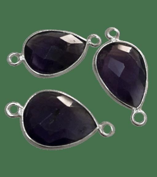 Sterling Silver Amethyst Drop Connector