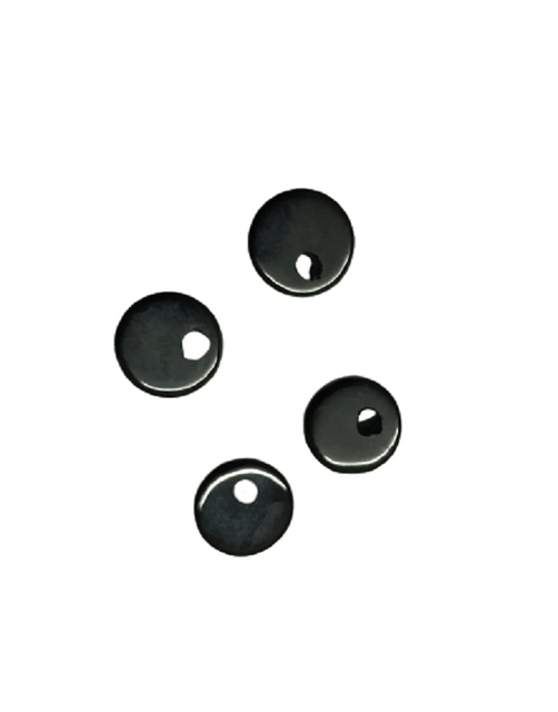 8mm Flat Black Onyx with Hole on Top