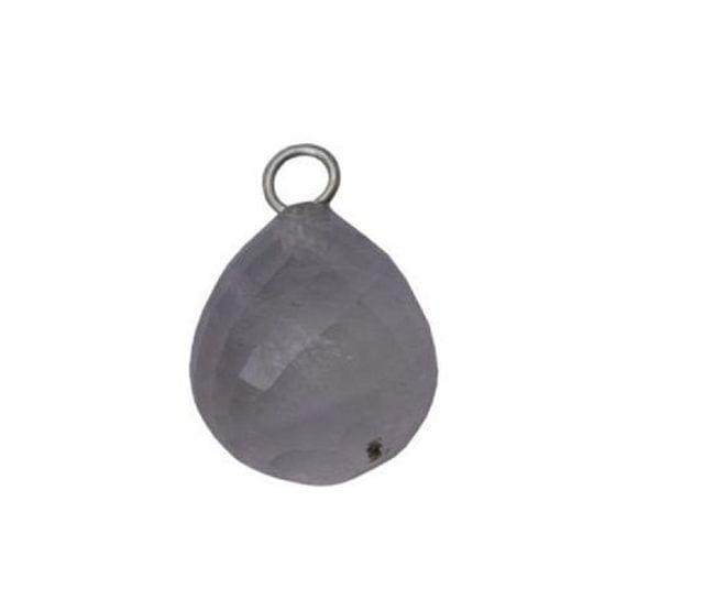 92.5 Sterling Silver with Rose Quartz Faceted Charm
