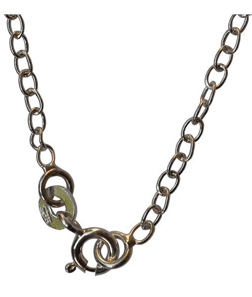 92.5 Sterling Silver Oval Link Chain-45 Cms