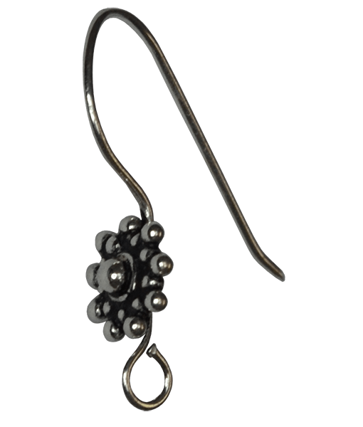 92.5 Sterling Silver Ethnic Ear wire