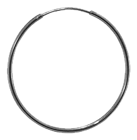 92.5 Sterling Silver 40mm Round Hoop Earring