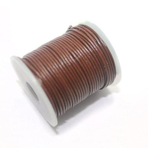 0.5mm, 25 Mtrs Jewellery Making Leather Cord Brown 0.5 mm