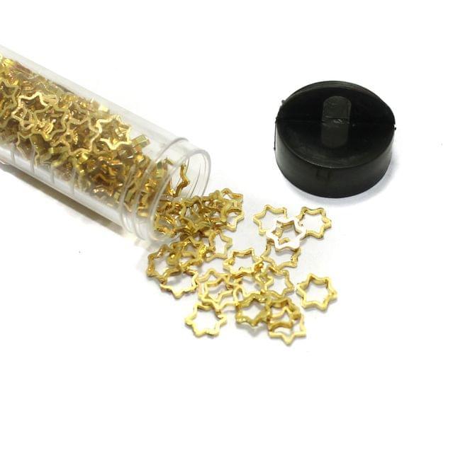 250+ Pcs Brass Star Charms Golden 8mm