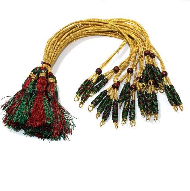 12 Pcs Zari Backrope Necklace Dori With Lock