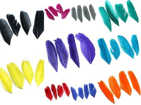 100 Pcs Premium Jewellery Making Feathers Combo