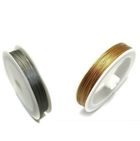200 MtrJewellery Making Metal Beading Wire Combo Silver and Godlen 0.45mm