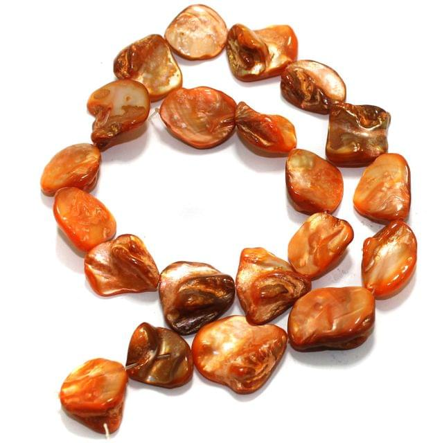 Orange Shell Beads String 18-22 mm