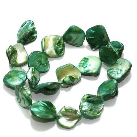 Green Shell Beads String 18-22 mm