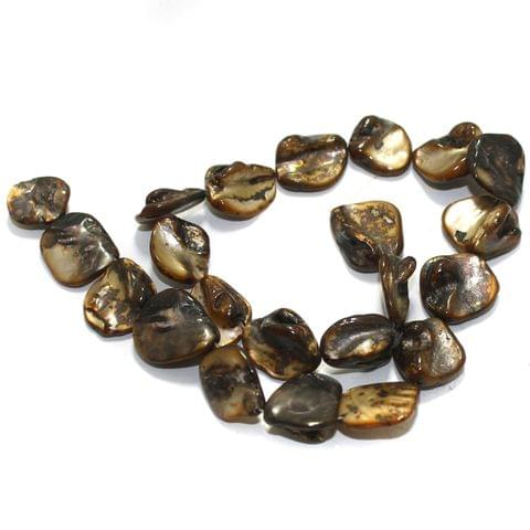 Brown Shell Beads String 18-22 mm
