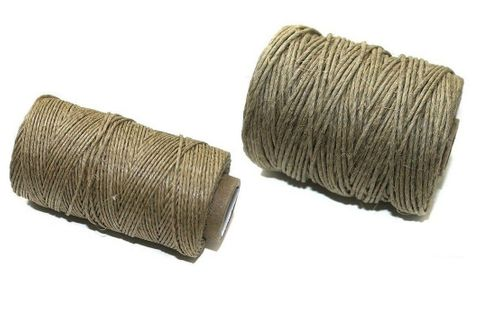 2 Spools Hemp Twine Cord Natural 1 mm and 2mm Combo