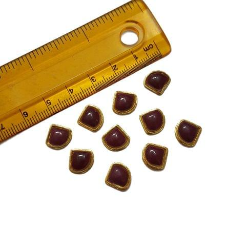 10mm, 20 pcs, Red Glass Stones Cabochons