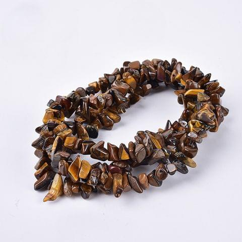 1 Strings Tiger Eye Stone Chips Beads Assorted Size