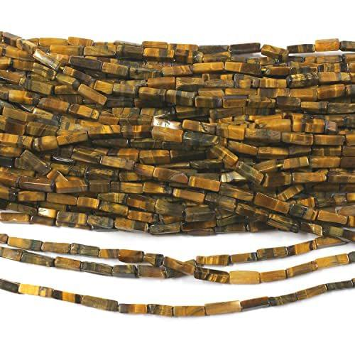 1 Strings Tiger Eye Stone Rectangle Beads 7mm