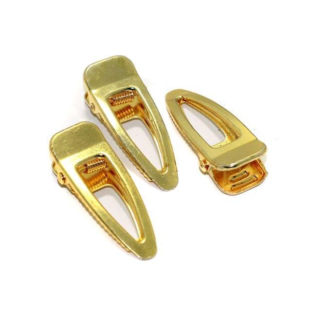 5 Pcs Gold Hair Alligator Clip 1.75 Inch