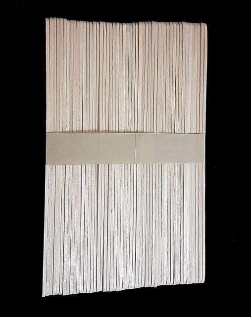 Plain Wooden Sticks, Long 11.3cm x 1cm Pack of 6 x 50 Sticks ,  300 Pcs.