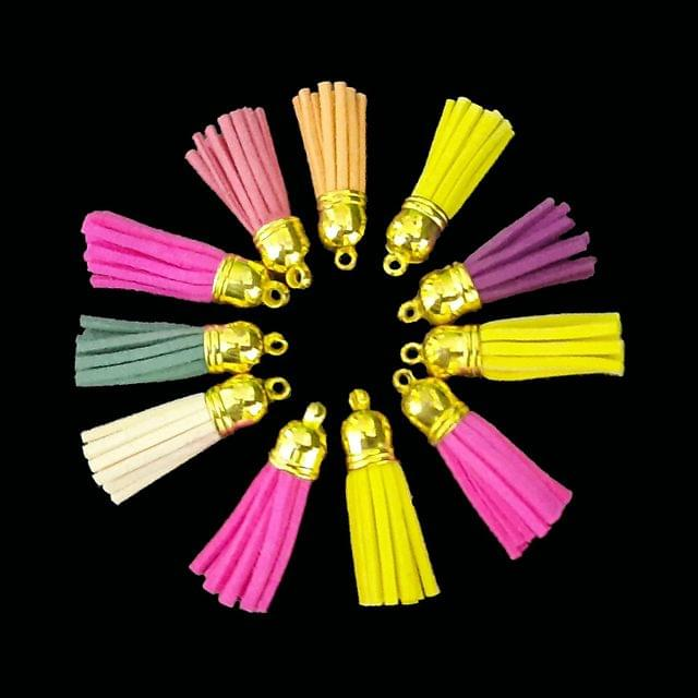 Artificial Leather Tassels Craft, Earring Making Pack of 24 Pcs.