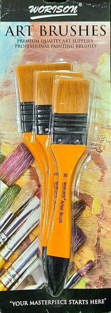 Worison Artist Paint Brushes Sizes 30mm, 40mm, 50mm (Set of 3 Pcs)