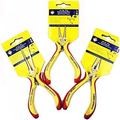 3 Piece Mini Pliers Tool Set, Set Include Round Nose Plier / Flat Long Nose Plier / Chain Nose & Telephone Plier