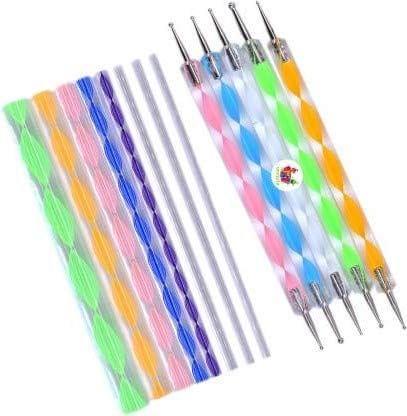 5 Pcs Acrylic Embossing Double Ended Dotting Tool and 8 Piece Acrylic Mandala Dotting Tool