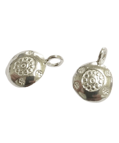 Sterling Silver Round Pattern Charm