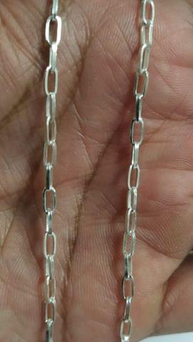 Sterling Silver Paper Clip Chain � 45 cms