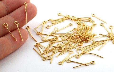 500 Pcs Metal Golden Eye Pins 18mm