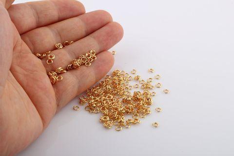 1700 Pcs Golden Jump Rings 4mm