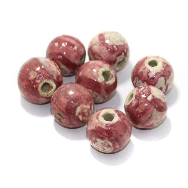 20 Pcs Ceramic Round Beads 20mm