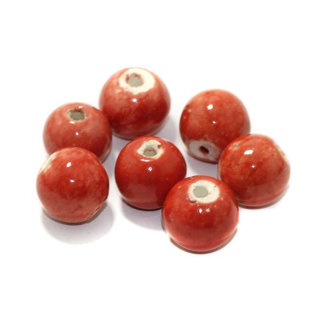 20 Pcs Ceramic Round Beads 18mm