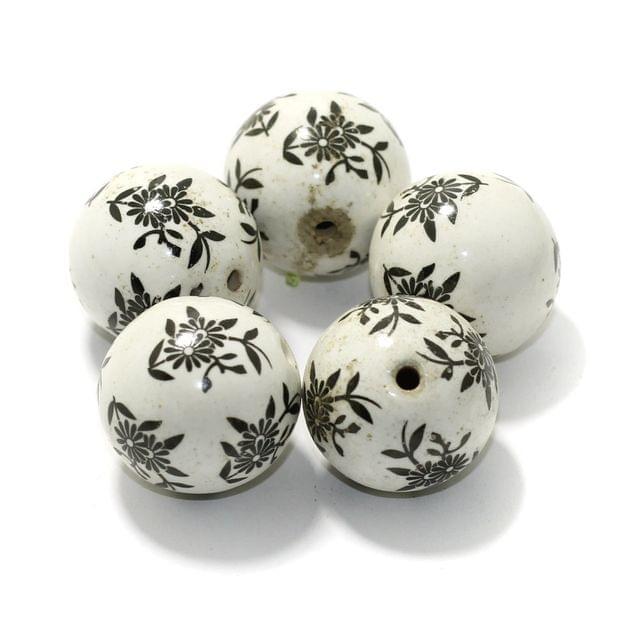 10 Pcs Ceramic Beads Round 30mm