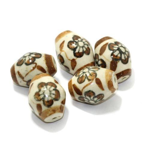 10 Pcs Ceramic Oval Beads 32x25mm